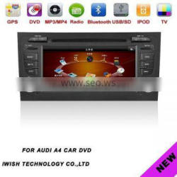 2 dins 7inch brand iwish Android 4.0 car dvd gps for Audi A4