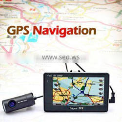 Newest High quality 4.3inch Android system 4X ZOOM GPS G-sensor wifi double lens car dvr