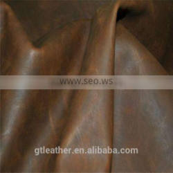 Crazy Horse cow split distressed leather for making vintage style shoes
