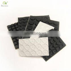 Self adhesive silicone rubber mat for furniture feet anti slip pad