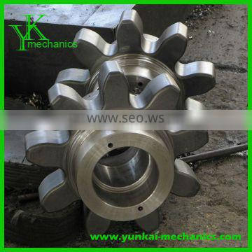 Precision helical gear parts, precision cnc forging parts, cnc machined parts