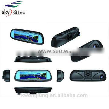 2016 latest model high resolutions 8.2 inch rear view mirror camera recorder with gps navigations
