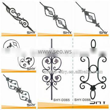 Gate fence usage wrought iron components of wholesale china supplier