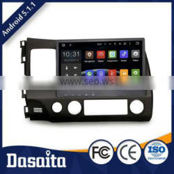 Cheap 10.2 inch 1.6GHz Cortex A9 android dvd gps car audio navigation system for Honda Civic 2009 2011