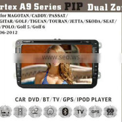 8inch HD 1080P BT TV GPS IPOD Fit for VW passat golf polo caddy skoda jetta multimedia car dvd player dvd + gps