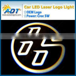Car LED boss logo laser door light welcome light LED car door laser projector light for audi