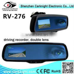 hotsale car camera car dvr rearview mirror with dual recording function