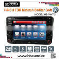 7 inch with gps and bluetooth car double din vw golf 5 Quality Choice