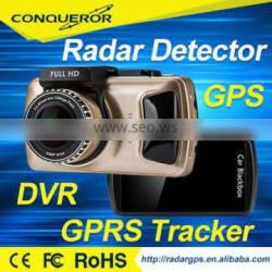 3 inch 2016 Hot Car DVR GPS Radar Detector with GPS Vehicle tracker