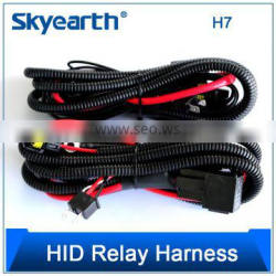 professional manufacture car led light wire harness assembly with relay and switch wire harness assembly