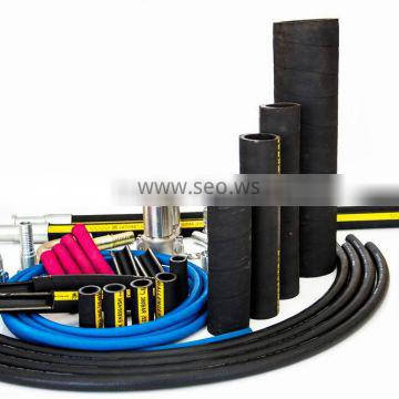 hydraulic rubber hose for hydraulic fluid, oil, hot water and air