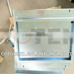 Large sheet metal frame LCD