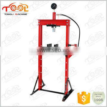 CE Certificated Shop Press for compacting 10Ton Portable Shop Press With Gauge