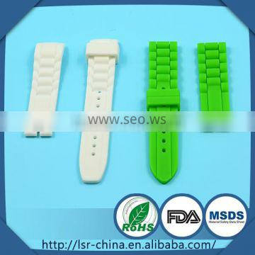 2014 top selling non-toxic custom OEM high quality silicone watch strap