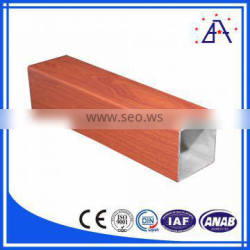 wooden aluminium square tube from China top 10 manufacturer