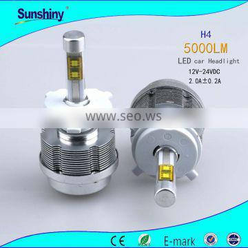 New products 50w winpower led headlight h4 12V-24V 5000lm for car
