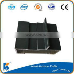 extruded powder coating charcoal aluminium profile to make doors and windows