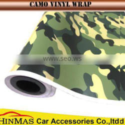 Digtal self adhesive white camouflage car vinyl film bubble free 1.52x30m/roll