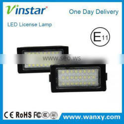 Top quality 24SMD DC12V Canbus LED License Plate Light Canbus led number plate lights Car modules plate lamp For BMW E38