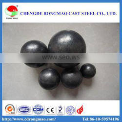 Low chrome ball grinding steel ball with strong wear resistance