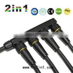 FQ16 4 branch LED street lighting waterproof connector F type