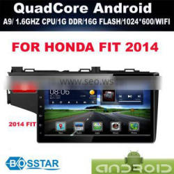 Android car radio audio gps for HONDA FIT 2014 with wifi,bluetooth,16g inand FREE IGO MAP
