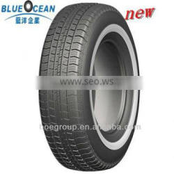 P-metric tires white wall car 205/70r15 tires for pickup