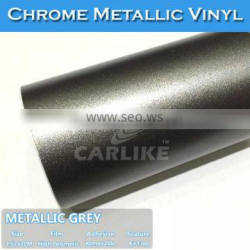 CARLIKE Stretchable Matt Chrome Metallic PVC Vinyl Car Wrapping Film