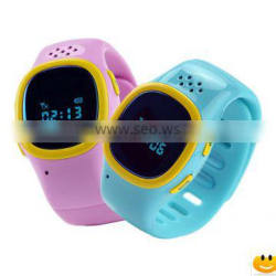 Wholesale Digital Type and Silicone Material gps tracker watch