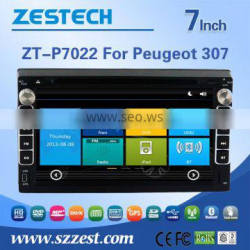 3G Phone GPS DVD BT in dash car dvd player for Peugeot 307 with Win CE 6.0 system 800MHz MCU