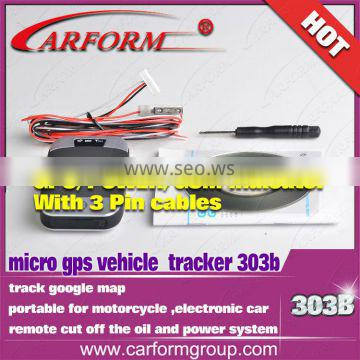 2014 large factory direct selling Mini Handheld and vehicle gps tracking device car/ Motorcycle gps tracker 303B