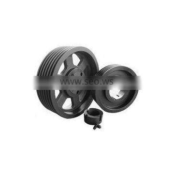OEM part top quality timing belt pulley round iron casting pulley wheel casting CNC machining sheave pulley belt