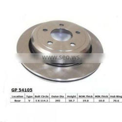 High quality JY 15634 anti-rusty treatment brake disc rotors