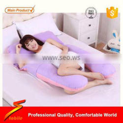STABILE U Shaped Premium Contoured Body Pregnancy Maternity Pillow with Zippered Cover
