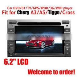 Fit for chery A3/A5/TIGGO/CROSS car multimedia player with gps