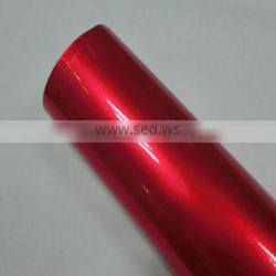 Hot Sales Products Fashion Shiny 1.52*20m/Size Metallic Red Pearl Chrome Vinyl With Air Free Bubbles
