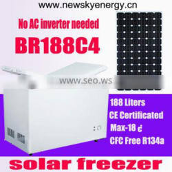 12v 24v solar dc fridge 188L solar freezer
