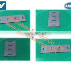 Long lifespan Tungsten Carbide Plate Inserts /Cutter inserts with hole for tobacco cutting machines