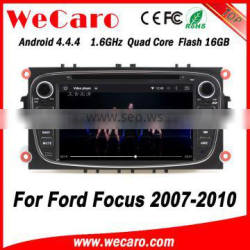Wecaro WC-FU7608 Android 4.4.4 car dvd player 1024*600 for ford focus android 2007 - 2010 bluetooth