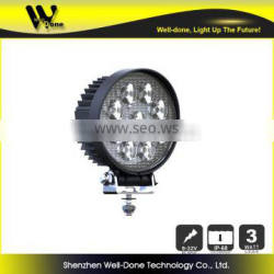 Round shape 27w led automotive lights