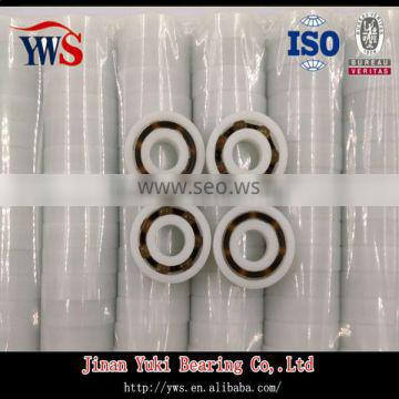 smooth running plastic POM 623 deep groove ball bearing