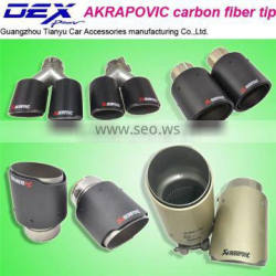 car accessories akrapovic exhaust tip carbon exhaust tip