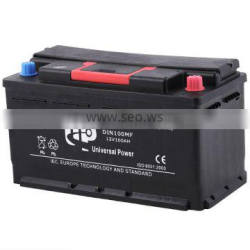 Maintenance free automotive battery DIN100