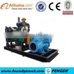 Farm use CE approved diesel water pump set 100~185m3/h