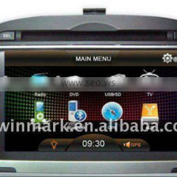 HYUNDAI-IX35 2 DIN 7 inch special touch screen car DVD GPS player with Bluetooth, IPOD