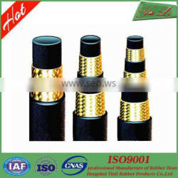Hydraulic flexible hose oil resistant fittings for 1SN rubber braided hose