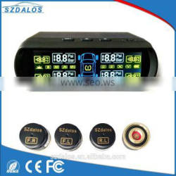 Solar Tire-pressure monitoring system with 4 external tire pressure sensor