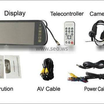 "7""car tft lcd monitor with reverse camera and two way video input"