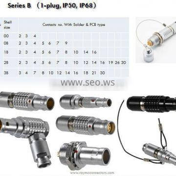 compatible push pull circular male female connector FNG 0B/1B/2B electrical connector