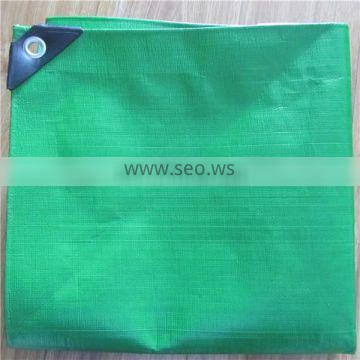10*10mesh Medium duty PE tarp with rope in along edges for reinforced and metallic